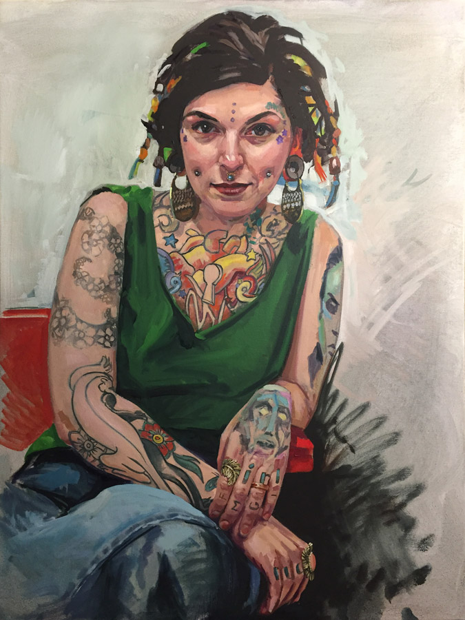 Ink & Oil Cheryl by Brian McClear