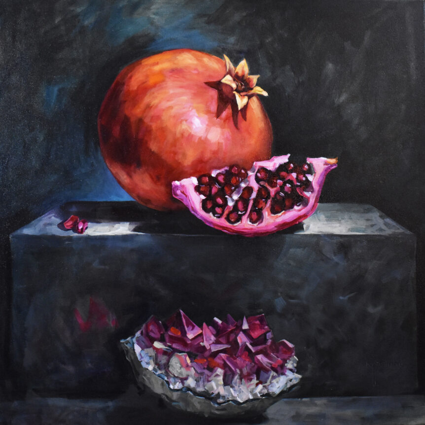 Pomegranate and Geode by Brian McClear