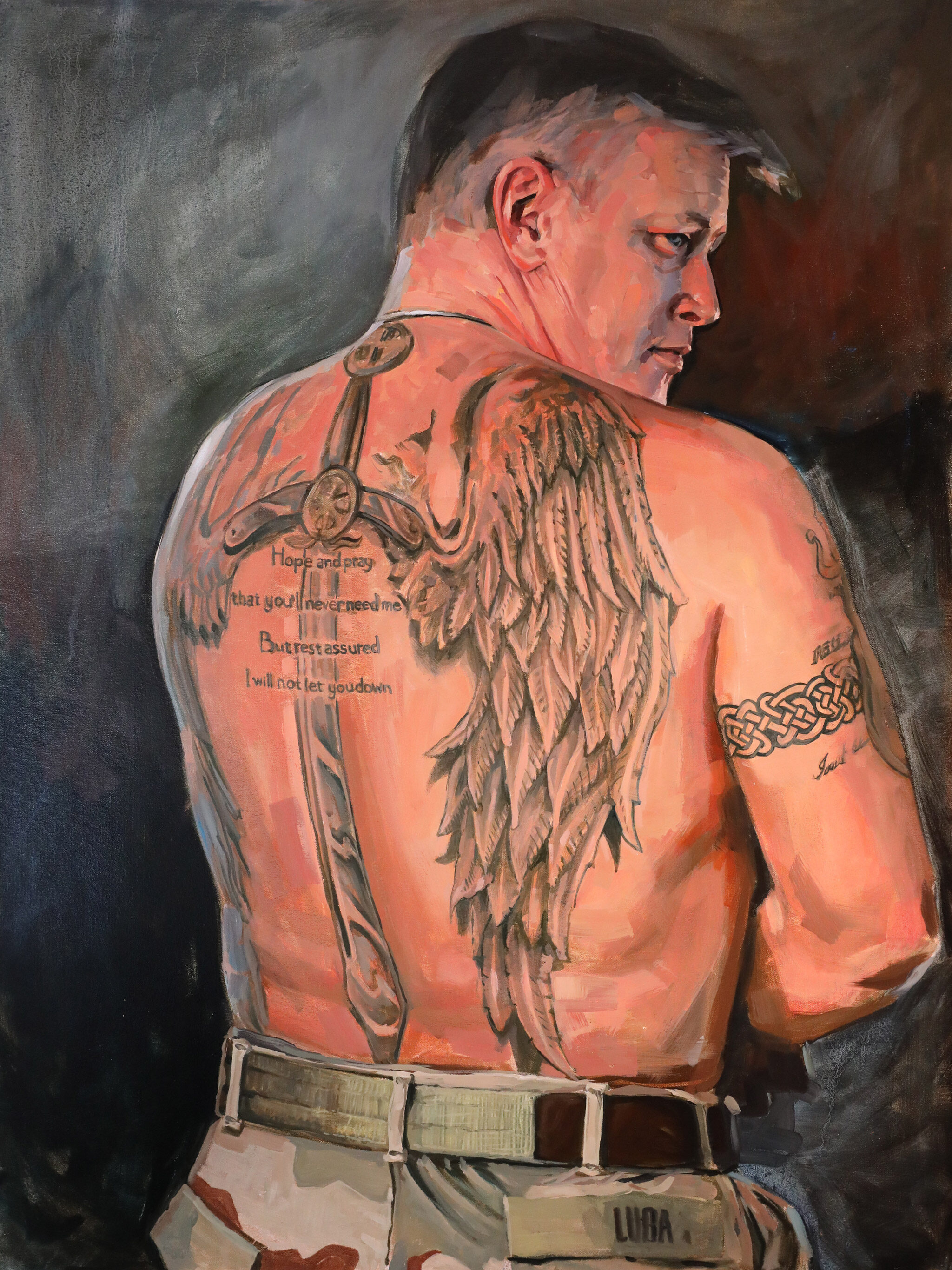 """""""Lou"""" by Brian McClear   Ink & Oil"""