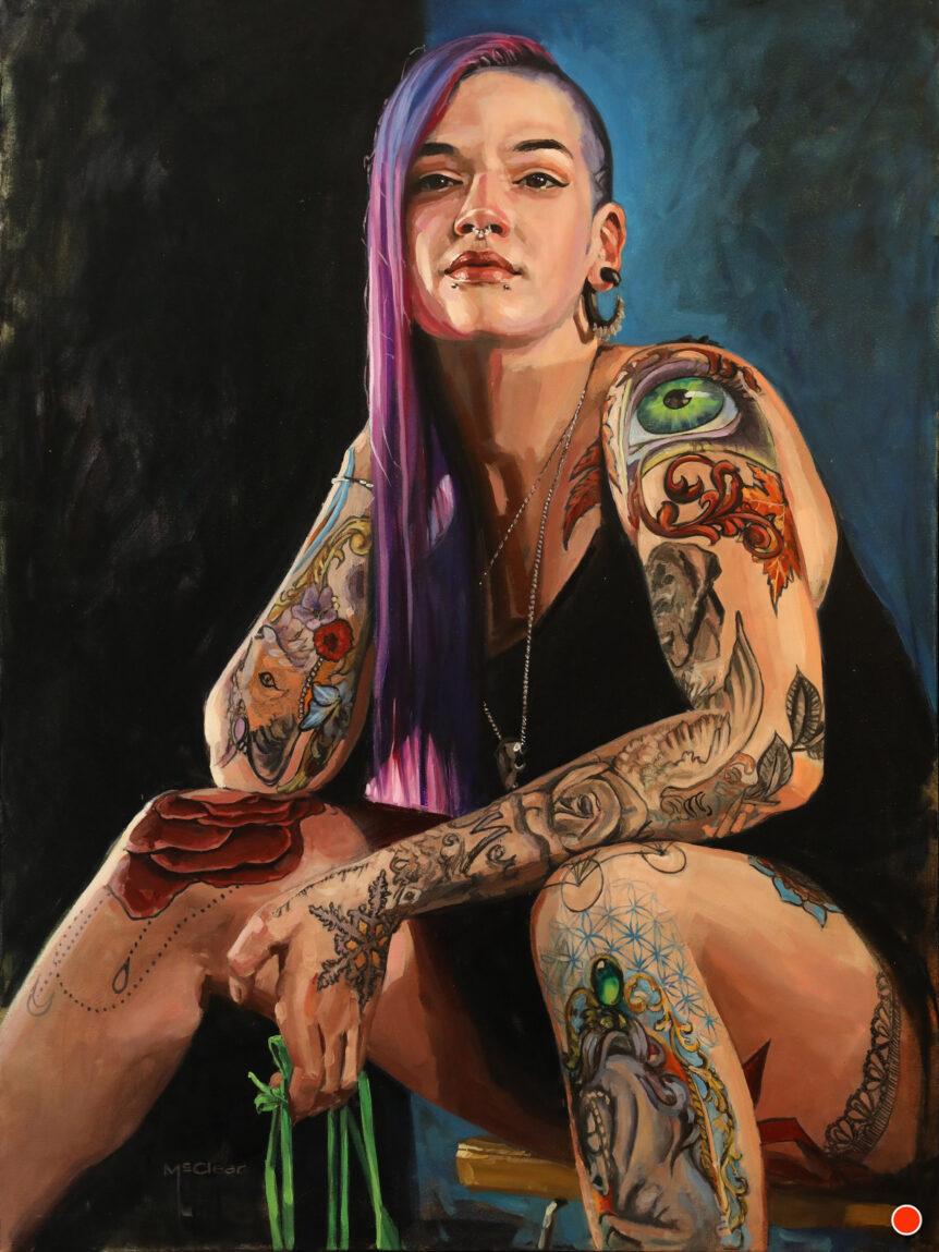 """Joelle"" by Brian McClear | Ink & Oil"