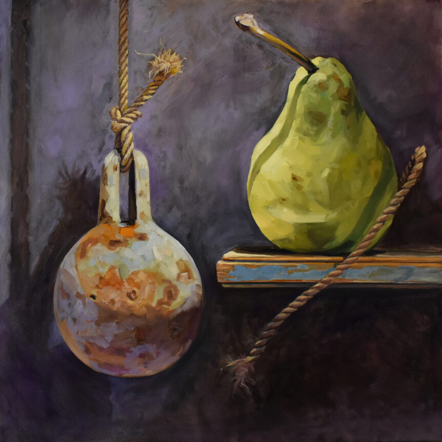 Weight and Pear by Brian McClear