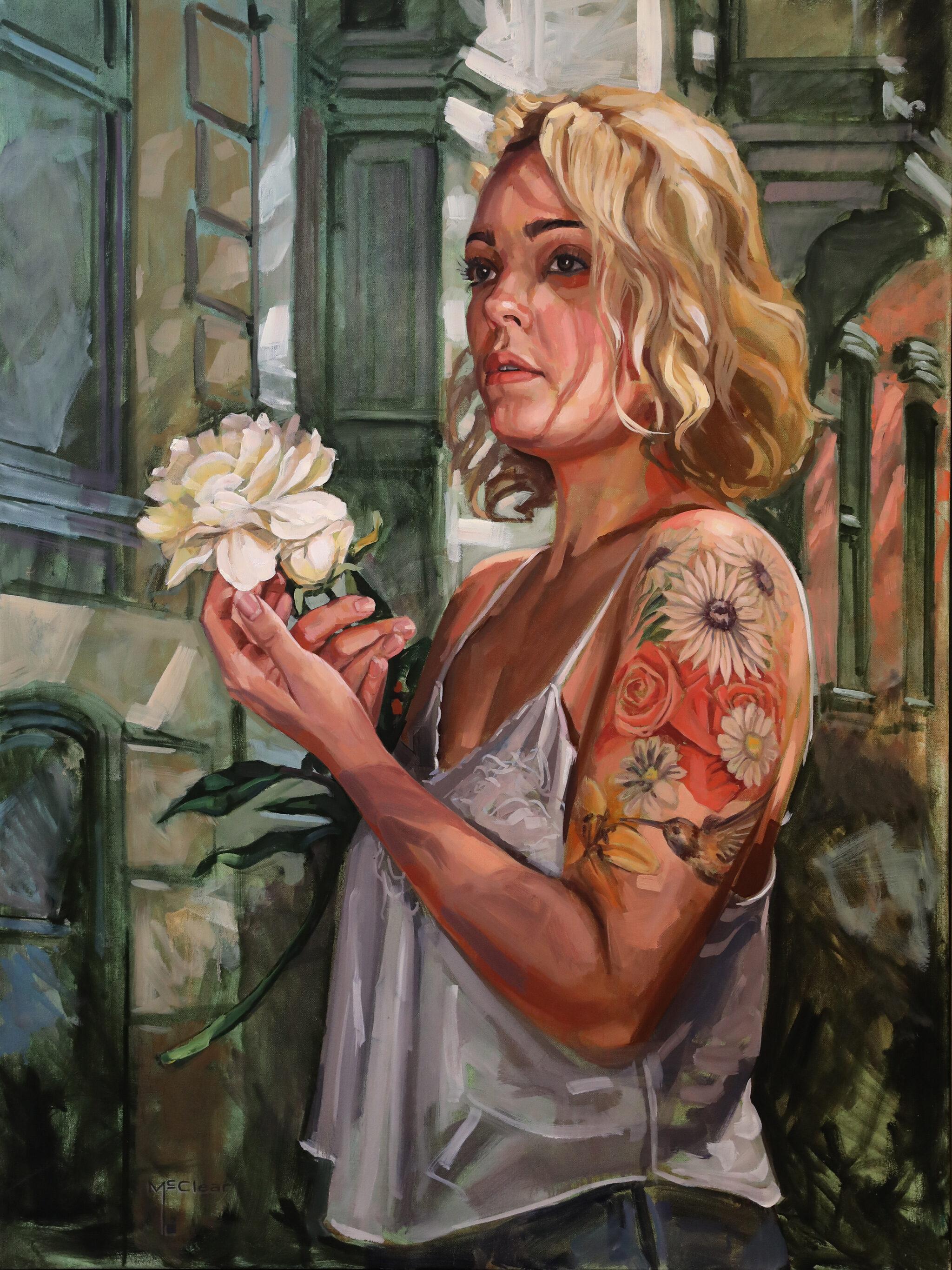 """Gabby"" by Brian McClear | Ink & Oil"