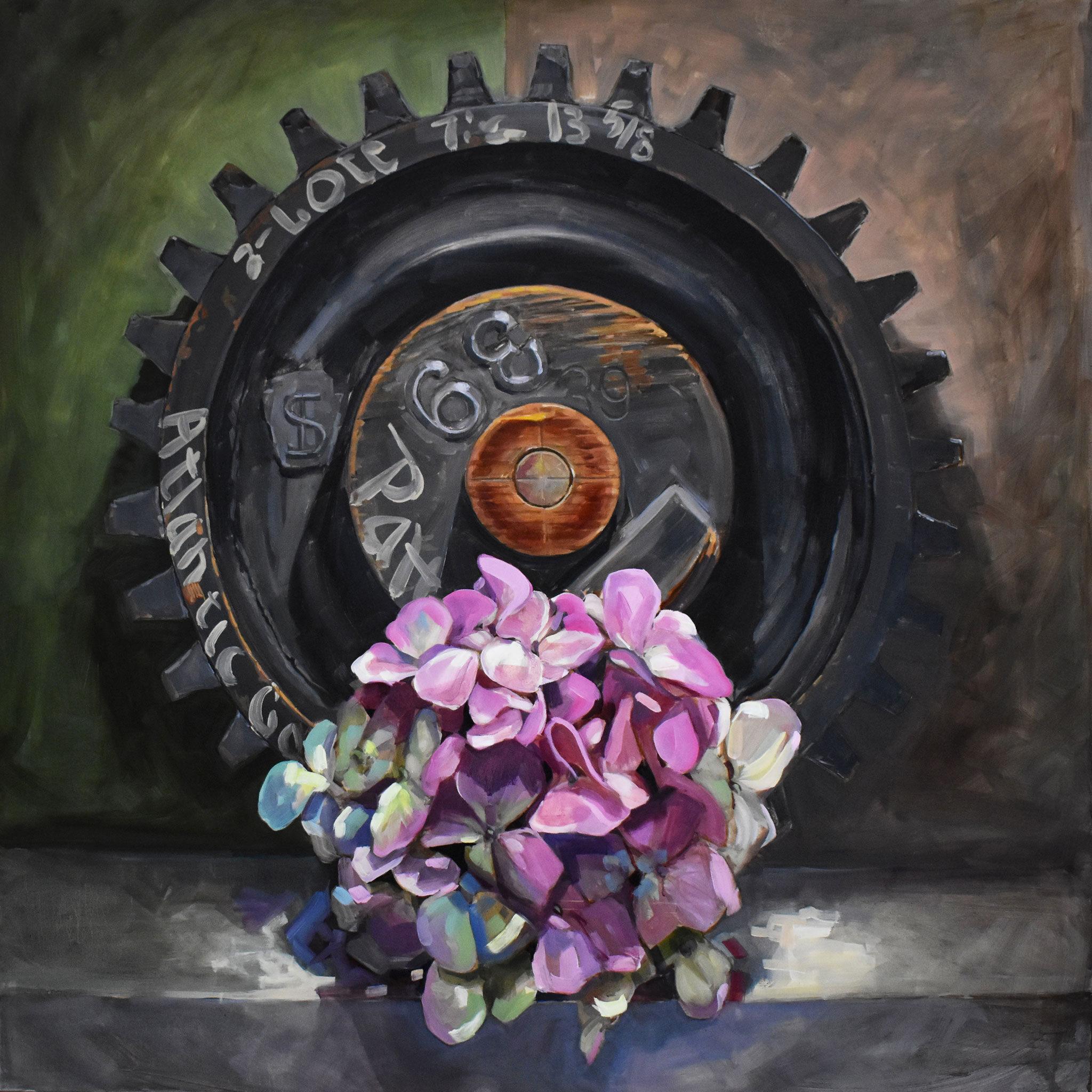 Gear and Hydrangea by Brian McClear