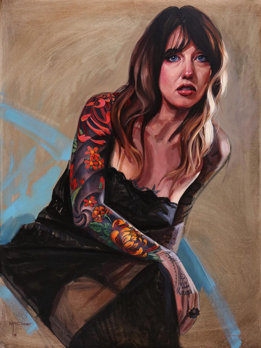 """Danielle"" by Brian McClear   Ink & Oil"